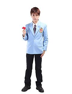 """billige Anime cosplay-Inspirert av Høyskole Vert Klubb Haruhi Fujioka Anime  """"Cosplay-kostymer"""" Cosplay Klær Skoleuniformer Lapper Langermet Frakk Trøye Bukser"""