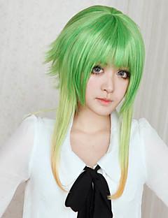 Peruci de Cosplay Vocaloid Gumi Verde Mediu Anime/ Jocuri Video Peruci de Cosplay 45 CM Fibră Rezistentă la Căldură Feminin