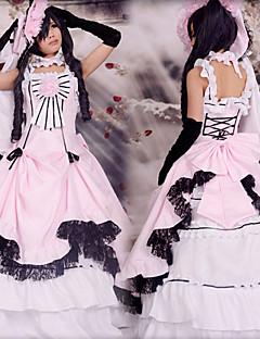 """billige Anime Kostymer-Inspirert av Svart Tjener Ciel Phantomhive Anime  """"Cosplay-kostymer"""" Cosplay Klær Lapper Ermeløs Kjole / Hanske / Hatt Til Herre / Dame Halloween-kostymer"""