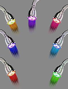 Contemporâneo Chuveiro Tipo Chuva Cromado Característica for  LED Efeito Chuva , Lavar a cabeça