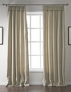 billige Gardiner-To paneler Window Treatment Moderne , Solid Stue Lin/Bomull Blanding Materiale gardiner gardiner Hjem Dekor For Vindu