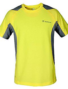 baratos Camisetas para Trilhas-Homens Gola Redonda Camiseta de Corrida Esportes Camiseta / Blusas Manga Curta Roupas Esportivas Secagem Rápida, Respirável
