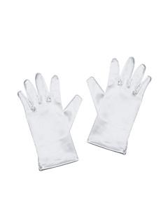 お買い得  サテン-サテンの手首の長さ手袋花の少女の手袋古典的な女性的なスタイル