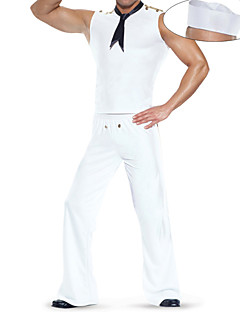 cheap Adults Costumes-Sailor Cosplay Costume Party Costume Men's Halloween Carnival Festival / Holiday Halloween Costumes Solid