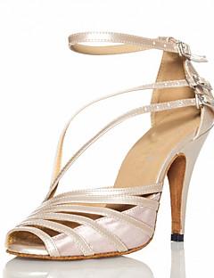 hesapli -Kadın's Latince Balo PU Deri Saten Sandaletler Toka Kişiye Özel Gri Çıplak Siyah Kişiselleştirilmiş