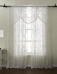 Window Treatment Land Polyester/Bomull Blanding Poly/ Bomull Blanding Materiale Hjem Dekor For Vindu