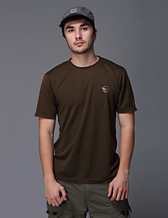 tanie Koszulki turystyczne-Męskie Tričko na turistiku Na wolnym powietrzu Quick Dry Oddychający T-shirt Topy Camping & Turystyka Wędkarstwo Wspinaczka Wyścigi Sport