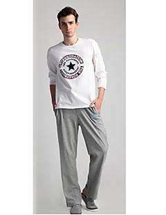 Bărbați Larg Tradițional/Clasic Talie Medie,strenchy Larg Pantaloni Culoare pură Altele