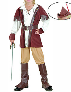 cheap Halloween & Carnival Costumes-Pirate Cosplay Costume Party Costume Kid's Halloween Children's Day Festival / Holiday Halloween Costumes Patchwork