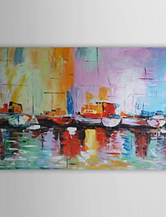 baratos Paisagens Abstratas-Pintura a Óleo Pintados à mão - Abstrato Modern Tela de pintura