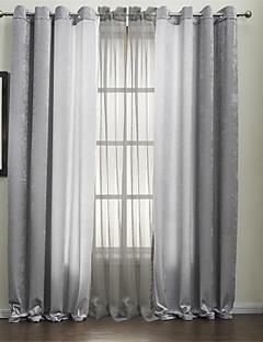 To paneler Window Treatment Moderne , Ensfarget Polyester Materiale gardiner gardiner Hjem Dekor For Vindu