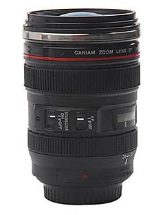preiswerte Wasserflaschen-1 stück kreative kamera objektiv kaffeetasse mit abdeckung handliche tasse