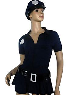 billige Sexy kostymer-uniformer Cosplay Kostumer Dame Politiuniformer Halloween Karneval Nytt År Festival / høytid Drakter Ensfarget