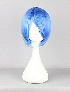 Cosplay Wigs Cosplay Rei Ayanami Blue Short Anime Cosplay Wigs 30 CM Heat Resistant Fiber Female