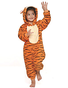 kigurumi pajamas tiger leotardonesie festivalholiday animal sleepwear halloween orange patchwork flannel kigurumi - Tiger For Halloween