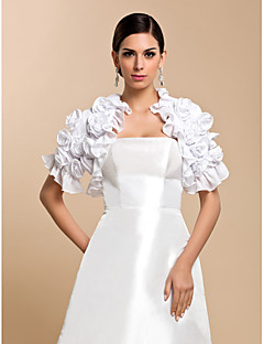 cheap Wedding Wraps-Short Sleeves Chiffon Wedding Party Evening Casual Wedding  Wraps Coats / Jackets