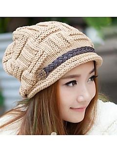Χαμηλού Κόστους Fashionably Warm-Γυναικεία Μονόχρωμο Ενεργό Με ραφές / Ριχτό / Χειμώνας / Καπέλο & Σκούφος
