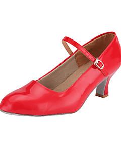 Χαμηλού Κόστους -Γυναικεία Μοντέρνα παπούτσια / Αίθουσα χορού Δερματίνη Τακούνια Αγκράφα Τακούνι καμπάνα Μη Εξατομικευμένο Παπούτσια Χορού Κόκκινο / Ασημί