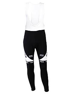 billige Sykkelklær-Kooplus Tights med seler til sykling Herre Sykkel Tights Bunner Hold Varm Fleecefor Fukt Gjennomtrengelighet Anvendelig Pustende