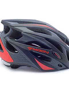 billiga Cykling-MOON Vuxen cykelhjälm 21 Ventiler Stöttålig, Justerbar passform, Avtagbar visir EPS, PC Vägcykling / Rekreation Cykling / Cykling / Cykel - Svart / Svart / röd