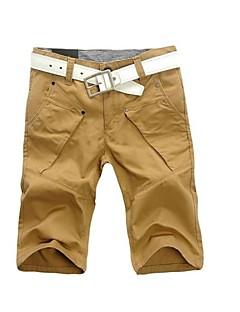 billige Herrebukser og -shorts-Herre Chic & Moderne Shorts Bukser Ensfarget
