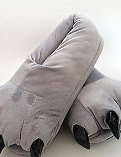 billige Halloweenutstyr-Kigurumi Pyjamas Tegneserie Trikot/Heldraktskostymer Festival/høytid Pysjamas med dyremotiv Halloween Grå Ensfarget Bomull Tøfler Til