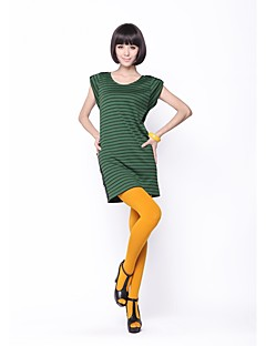 Zoely Women's Sweet Round Neck Stripe Batwing Sleeve Short Sleeve Dress 101121L050