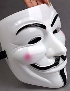 Vastagszik fehér maszk V for Vendetta Full Face Scary Cosplay Gadgets Halloween Costume Party