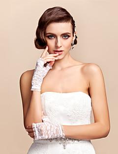 billige Bestselgere-blonder håndlengde lengde hanske brude hansker klassisk feminin stil