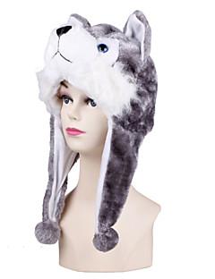 billige Kigurumi-Kigurumi-pysjamas Hund Husky Onesie-pysjamas Kostume Imitert Pels Grå Cosplay Til Voksne Pysjamas med dyremotiv Tegnefilm Halloween