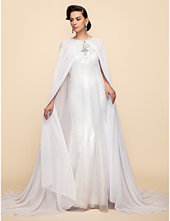 Long Sleeves Chiffon Lace Wedding Party Evening Wedding  Wraps Hoods & Ponchos Capes