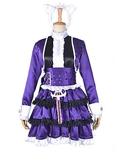 cheap Videogame Costumes-Inspired by LOL Annie Video Game Cosplay Costumes Cosplay Suits Patchwork Dress Headpiece Belt Leg Warmers