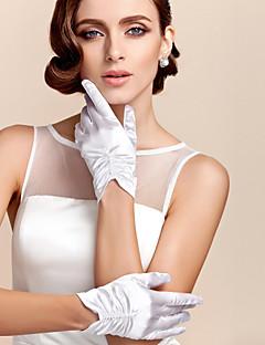 お買い得  サテン-ポリエステル サテン 手首丈 クラシック風 ブライダル手袋 パーティー/イブニング手袋 ソリッド  -  グローブ