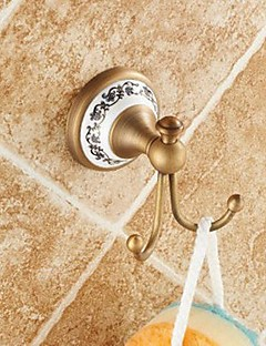 cheap Robe Hooks-Robe Hook High Quality Antique Brass Ceramic 1 pc - Hotel bath