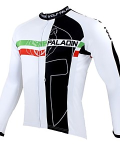 ILPALADINO Cycling Jersey Men's Long Sleeves Bike Jersey Top Thermal / Warm Quick Dry Ultraviolet Resistant Breathable 100% Polyester