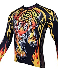 ILPALADINO חולצת ג'רסי לרכיבה בגדי ריקוד גברים שרוול ארוך אופניים ג'רזי צמרות שמור על חום הגוף ייבוש מהיר עמיד אולטרה סגול נושם 100%