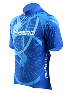 Jaggad Cycling Jersey Men's Short Sleeves Bike Jersey Top Quick Dry Breathable Polyester Elastane Stripe Summer Cycling/Bike