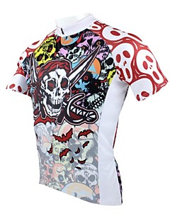 cheap -ILPALADINO Cycling Jersey Men's Short Sleeves Bike Jersey Top Quick Dry Ultraviolet Resistant Breathable 100% Polyester Skulls Spring
