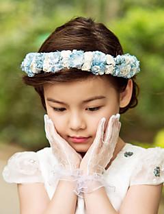 可愛いペーパー/サテン花♥ウェディング♥フラワーティアラ