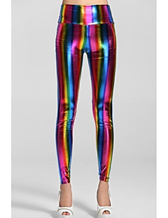 Women'sEmpire Taille Fluorescent Rainbow Leggings