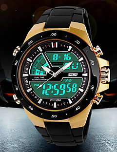 SKMEI Herre Sportsklokke Moteklokke Armbåndsur Digital Watch Quartz Digital Japansk Quartz LCD Kalender Kronograf Vannavvisende Dobbel