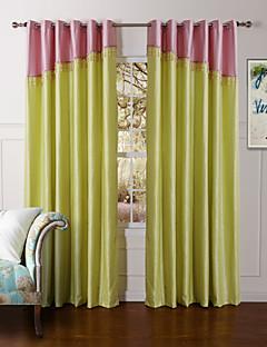 To paneler Window Treatment Moderne , Solid Soverom Polyester Materiale gardiner gardiner Hjem Dekor For Vindu