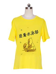 """Inspirert av Gratis! Nagisa Hazuki Anime  """"Cosplay-kostymer"""" Cosplay T-skjorte Trykt mønster Kortermet T-Trøye Til Mann"""