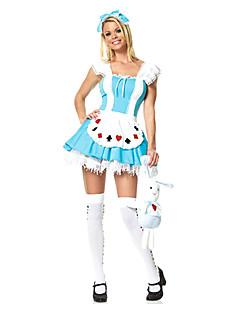 billige Voksenkostymer-Eventyr Cosplay Kostumer Dame Halloween Karneval Festival / høytid Terylene Drakter Lapper