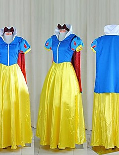 billige Voksenkostymer-Snøhvit Prinsesse Eventyr Snø Cosplay Kostumer Party-kostyme Herre Dame Halloween Festival / høytid Halloween-kostymer Lapper