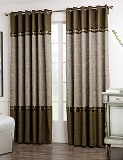 billige Egendefinerte gardiner-Skreddersydd Værelses Bemørkning gardiner gardiner To paneler 2*(W183cm×L213cm) / Stue