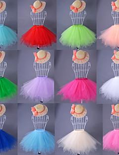 billiga Brudklänningsunderkjol-Speciellt Tillfälle Underklänningar Organza Satäng Taft Knälång Balklänning Underkjol Med