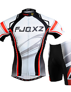 cheap Cycling Jersey & Shorts / Pants Sets-FJQXZ Men's Short Sleeves Cycling Jersey with Shorts - White Bike Clothing Suits, 3D Pad, Quick Dry, Ultraviolet Resistant, Breathable,