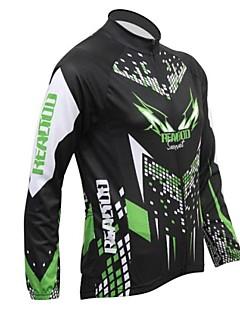 Realtoo Jaqueta para Ciclismo Homens Manga Longa Moto Camisa/Roupas Para Esporte Blusas Térmico/Quente Forro de Velocino Respirável