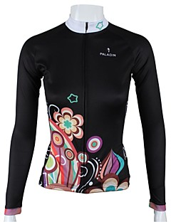 ILPALADINO Cycling Jersey Women's Long Sleeves Bike Jersey Top Quick Dry Breathable 100% Polyester Floral / Botanical Spring Summer